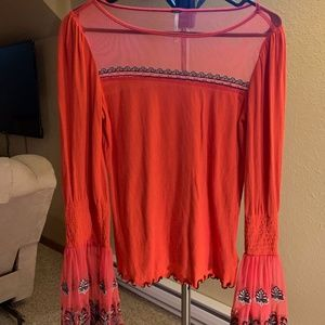 Orange Free People Blouse